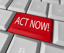 Act now - shutterstock