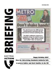 Baby Milk Action briefing: Happy birthday ASA?