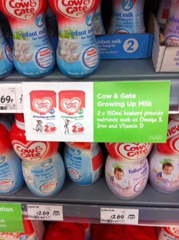 ASDA Cow & Gate promotion Lower Earley, Reading, on 7 February 2