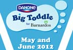 Danone sponsorship of Barnardos Ireland Big Toddle in 2012