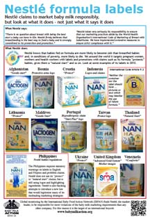Nestle labels