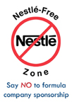 NestlŽe-Free Zone no sponsorship