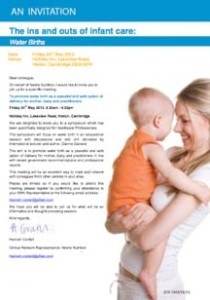 NestlŽe invitation to 'ins and outs of infant care' event 24 May