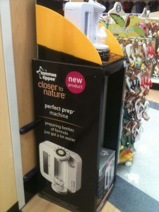 Tommee Tippee promotion in Toys R Us, Warrington, 29 July 2013.