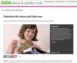 ASDA baby and toddler club website 7 February 2014