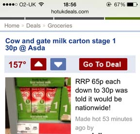 ASDA promotes Cow & Gate infant formula at reduced price