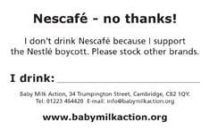 NescafeŽ - No Thanks card