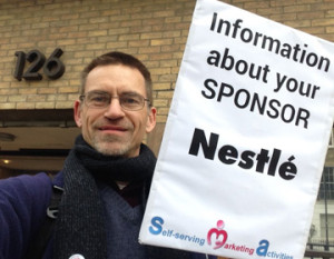 Protest at Nestle study day 20 November 2014