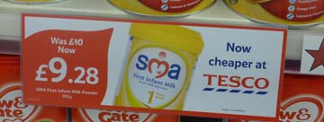 Tesco promotion of Nestle SMA infant formula