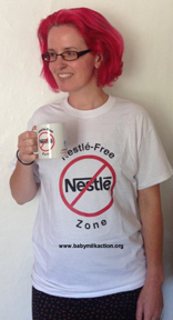 Nestle-Free Zone t-shirt